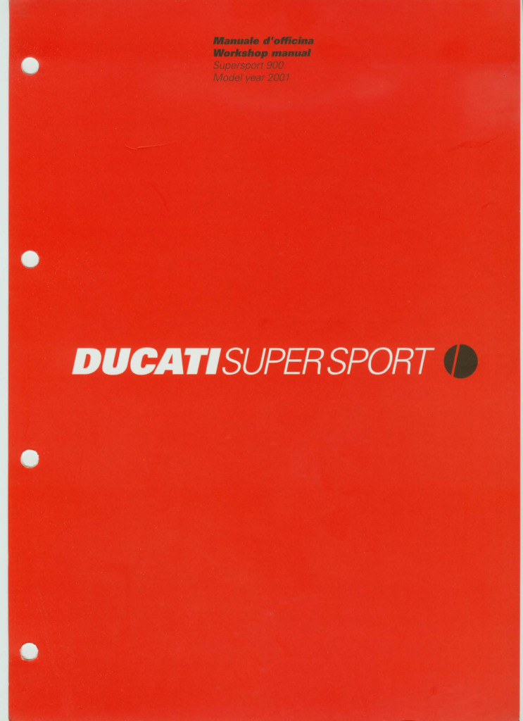 Ducati 900ss Super Sport 2001 Service Manual Pdf  46 6 Mb